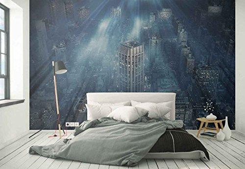 omural - Wandbild - Tapete - New York City Wolkenkratzer Panorama - Thema Städte - MUSTER - 104cm x 70.5cm (BxH) - 1 Teilig - Gedrückt auf 130gsm Vlies - 1X-1008640VEM ()