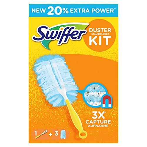 Swiffer Staubmagnet Set (1Griff und 3 Staubmagnet Tücher) -