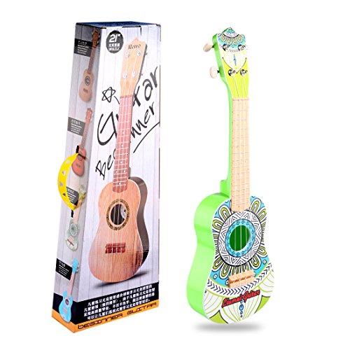 YAKOK Kinder Ukulele 4 Saiten Mini Gitarre Spielzeuggitarre mit Songbook für Kinder ab 3-12 Jahre (Grün)