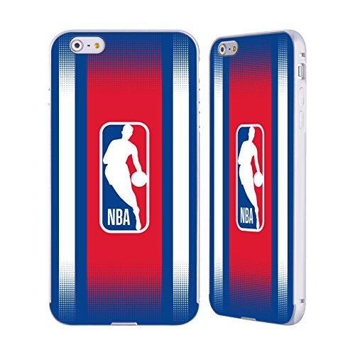 Ufficiale NBA Strisce Logoman Argento Cover Contorno con Bumper in Alluminio per Apple iPhone 6 Plus / 6s Plus Gradiente Mezzotono