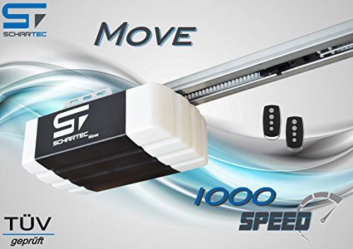 Schartec Move 1000 Speed Garagentorantrieb Serie 2 Set inkl. 2 Handsender und Schiene - elektrischer Torantrieb ehemals Force FS
