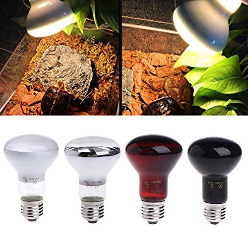 Autone E2725/50/75/100W Day Night Reptile Amphibian Vogel Schlange Hitze Lampe Infrarot der Leuchtmittel Licht, rot, 100W -