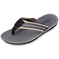 KCatsy Breathable Casual Toe Post Stripe Non-Slip Flip Flops Men Slippers