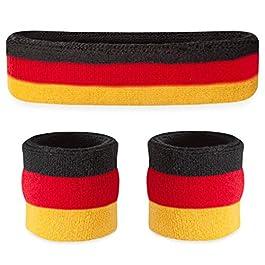 Suddora fascia/braccialetto set–fascia sportiva per testa e cinturino