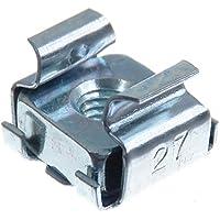 SECCARO Tuerca de jaula M5, para montaje en bastidor, acero galvanizado, 20 piezas