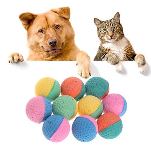 KatzenSpielzeug,Gaxen 10 Stücke Pet Spielzeug Latex Bälle Bunte Kauen Für Hunde Katzen Welpen Kätzchen Weiche Elastische