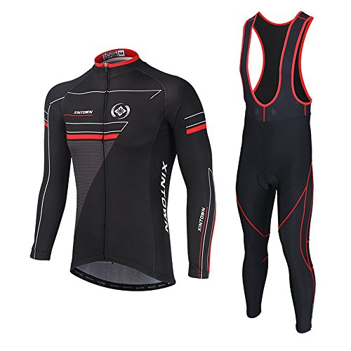 Soradoo Radtrikot Anzug Outdoor Sports männlich Gemütlich Radtrikot Langarm Herren Set Fahrradbekleidung Winter