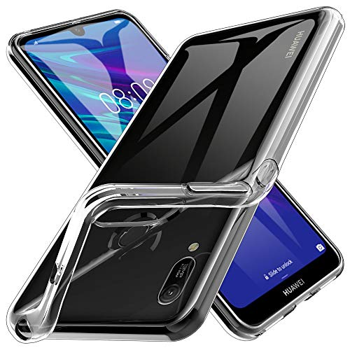 KundL LK Hülle für Huawei Y6 2019 / Honor 8A, Schlanker Weicher Flexibler TPU Handyhülle Durchsichtige Schutzhülle Case für Huawei Y6 2019 / Honor 8A - Transparent