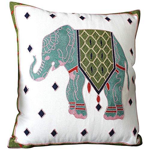 Bue Time Funda de Almohada de Tiro de Elefante Funda de Almohada...