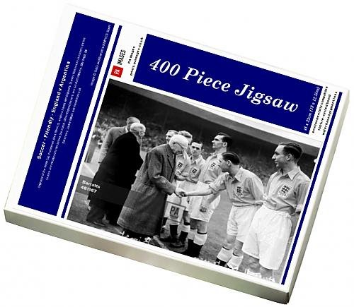 400 Piece Puzzle of Soccer - Friendly - England v Argentina (14000774)