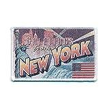 72 x 45 mm New York Retro Nostalgie Patch USA Edel Aufnäher Aufbügler 0751 A