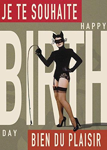 Je Te Souhaite Bien du Plaisir Happy Birthday Gruß-Karte