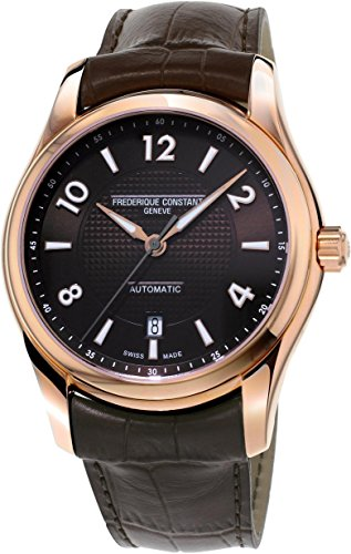 Frederique Constant Men's Runabout 43mm Leather Band Rose Gold Plated Case Automatic Watch FC-303RMC6B4