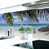 Küchenrückwand Palmen Strand Premium Hart-PVC 0,4 mm selbstklebend 160x60cm