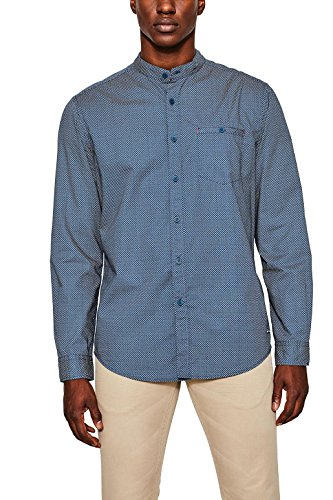 Edc by esprit 077cc2f003, camicia uomo, blu (bright blue 410), medium