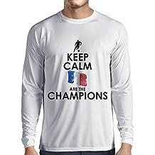 Camiseta de Manga Larga para Hombre Los franceses Son los campeones: Campeonato de Rusia 2018