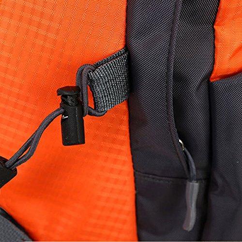 Draussen Sport Klettern Reise Schultern Camping Wasserdicht Wandern Tragbar Nylon Rucksack Dunkelblau
