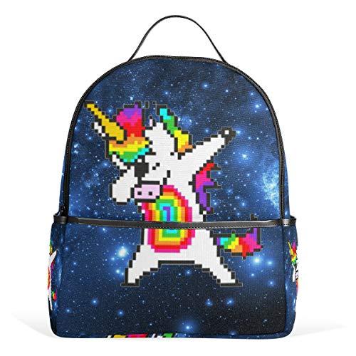 Einhorn Casual Student Rucksack, Blau Galaxy Star Durable Unisex Schultasche Büchertasche Daypack Rucksack Rucksack Schultertasche für Schule Reisen ()