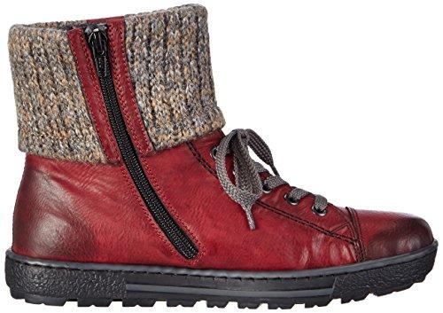 Rieker Z8753-35, Sneakers Hautes femme Rouge (Rouge Combiné)
