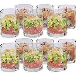 Générique 12 Verrines en Verre - pour apéritifs, Dessert, sucré, salé