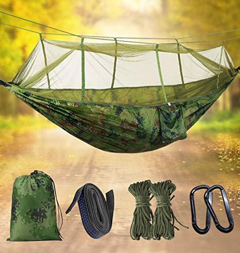 Idefair Hängematte mit Moskitonetz, doppeltem Camping-Hängematten-Käfernetz, wasserdicht, tragbar un