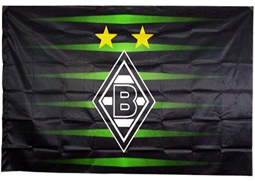 VFL Borussia Mönchengladbach Herren Borussia Mönchengladbach-Fohlenelf-Artikel-Stockfahne Europapokal x Flagge, Mehrfarbig, 150 x 100 cm