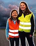 Kinder Warnweste / Warnschutzweste, gelb, Gr. XS, 3-6 Jahre