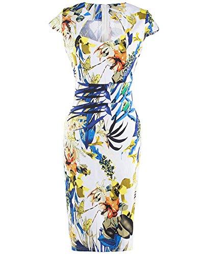 Damen 50er Jahre Rockabilly Kleid Bleistift-Kleid Kleider Sommerkleid Cocktailkleid Als Bild
