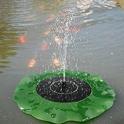 Bluelover Solar Floating Lotus Leaf Fountain Water Pump Garden Pond Decoration
