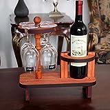 Zzsyso Hölzerner Wein-Gestell-Pilz-Haut-Ausgangsglas-kreative Dekoration-hoher umgedrehter Flaschen-Regal Multi-Flaschen-Becher-Kühlraum-Speicher-Schließfach-Innentischplatten-Küche-Ausstellungsstand