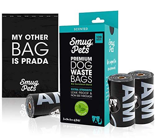 SmugPets - 120 Sacchetti Premium per Cane - Extra Large e profumati