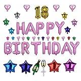Jerollin - Ballon d'anniversaire en aluminium avec le nombre « 18 », mylar, luxe, parfait pour décorations de fête d'anniversaire pour les 18ans Rosa 3