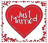 Always Amore® Hochzeitsherz zum Ausschneiden, hochwertiger Stoff mit extrastarken Schlaufen, Hochzeitsbrauch, Hochzeitsgeschenk mit Herzmotiv, Laken für Braut und Bräutigam mit idealem Design für tolle Fotos