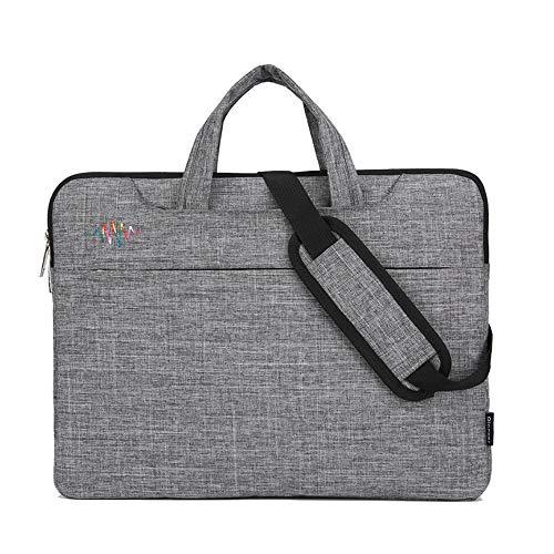 ZWJ Notebook-Tasche Schutz-hülle Messenger Bag Wasserabweisend Multifunktions Reise für Frauen und Männer,Gray,14inch Sony 14-laptops