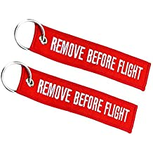Remove Before Flight llavero doble cara rojo