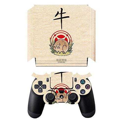Disagu SF-sdi-5547_863 Design Folie für Sony PS 4 Pro mit Controller - Motiv 'chin. Horoskop_Ochse_Jahre' transparent