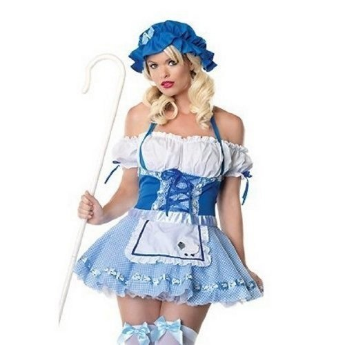 � Bo Peep Halloween Kostüm Kleid Outfit (Bo Peep-halloween-kostüme Für Erwachsene)