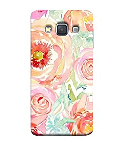 PrintVisa Designer Back Case Cover for Samsung Galaxy A3 (2015) :: Samsung Galaxy A3 Duos (2015) :: Samsung Galaxy A3 A300F A300Fu A300F/Ds A300G/Ds A300H/Ds A300M/Ds (Bud Decoration Drawing Ornament Fabric Floral Beautiful Illustration)