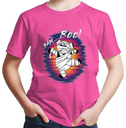 t Bam Boo Pandabär Mumie Halloween Kostüm Verkleidung Kürbis Inkl. Geschenk Karte Pink 164/14-15 Jahre ()