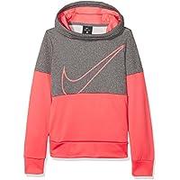 Nike Girls' Therma Training Hoodie Sudadera, Niñas, Gris Azul, XS