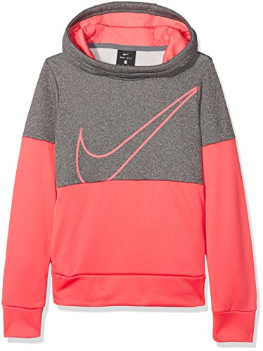 Nike Girls 'Therma Training Hoodie Sweatshirt, Mädchen XS Grau/Blau/Blau (Hoodie Nike Mädchen)