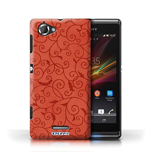 Kobalt® Imprimé Etui / Coque pour Sony Xperia L/C2105 / Rose conception / Série Motif de la vigne Rouge