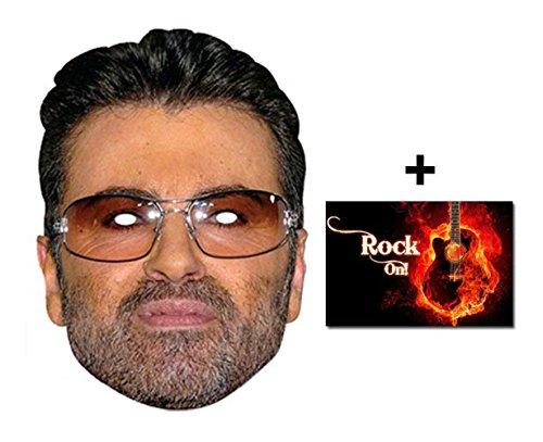 George Michael berühmtheit Single Karte Partei Gesichtsmasken (Maske) Enthält 6X4 (15X10Cm) starfoto (Maskerade Masken Michaels)