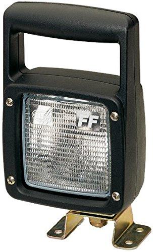 HELLA 1GA 007 506-021 Arbeitsscheinwerfer Ultra Beam Heavy Duty mit FF- Technik für Bodenausleuchtung, Anbau/ AMP- Anschluss/ Bügel, Halogen, 12V/ 24V