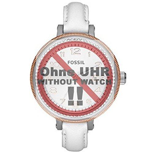 Fossil Uhrenarmband 12mm Leder Weiß Uhrband AM4362 / LB-AM4362