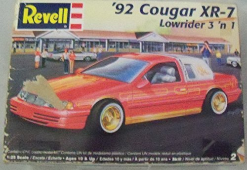 Preisvergleich Produktbild 1992 Cougar Xr-7 Lowrider 3'n1 Revell Plastic 1:25 Model Kit 85-2182