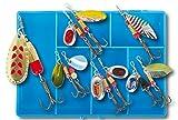 10 Spinner Set Box Forellenköder Forelle Barsch Köder