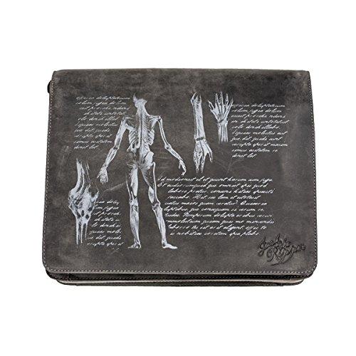 JACK'S INN 54 Tasche Kollektion - Jack the Ripper Modell Afterbrain Schultertasche schwarz -