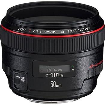 Canon EF 50mm f/1.2L USM - Objetivo para Canon (distancia focal fija 50mm, apertura f/1.2), Negro
