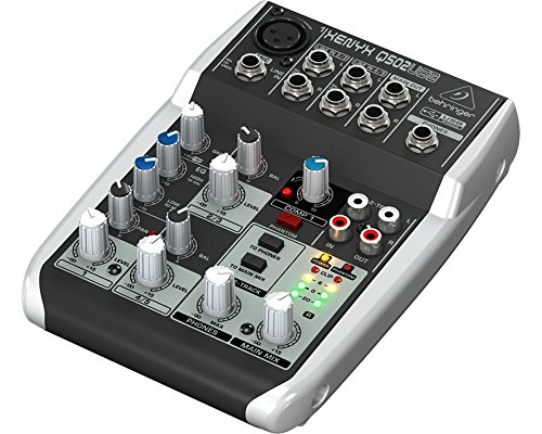 Behringer Q502 USB mixer passivo interfaccia audio per karaoke, live, home recording, studio (1 Canale Compressore)